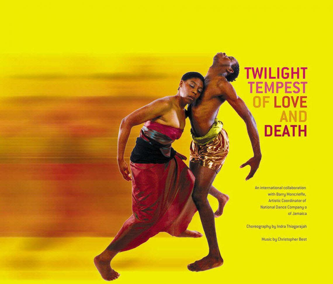 Poster for the dance piece 'Twilight Tempest' courtesy Indra Thiagarajah